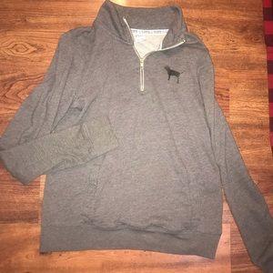 PINK half zip pullover